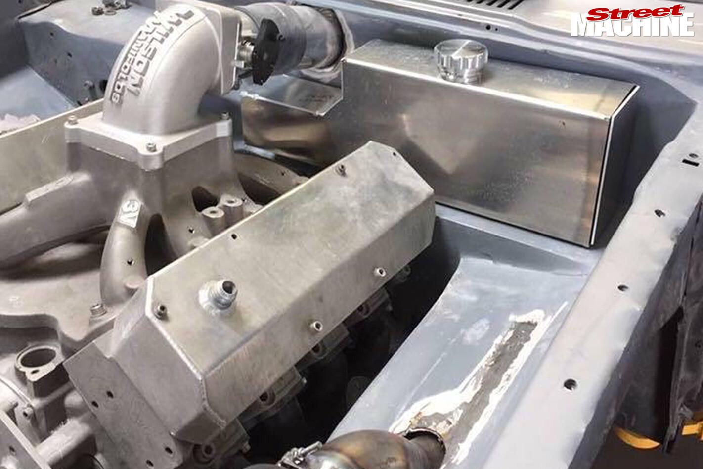 Ford TD Cortina engine bay