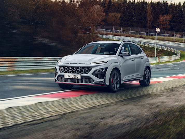 Hyundai Kona N on track