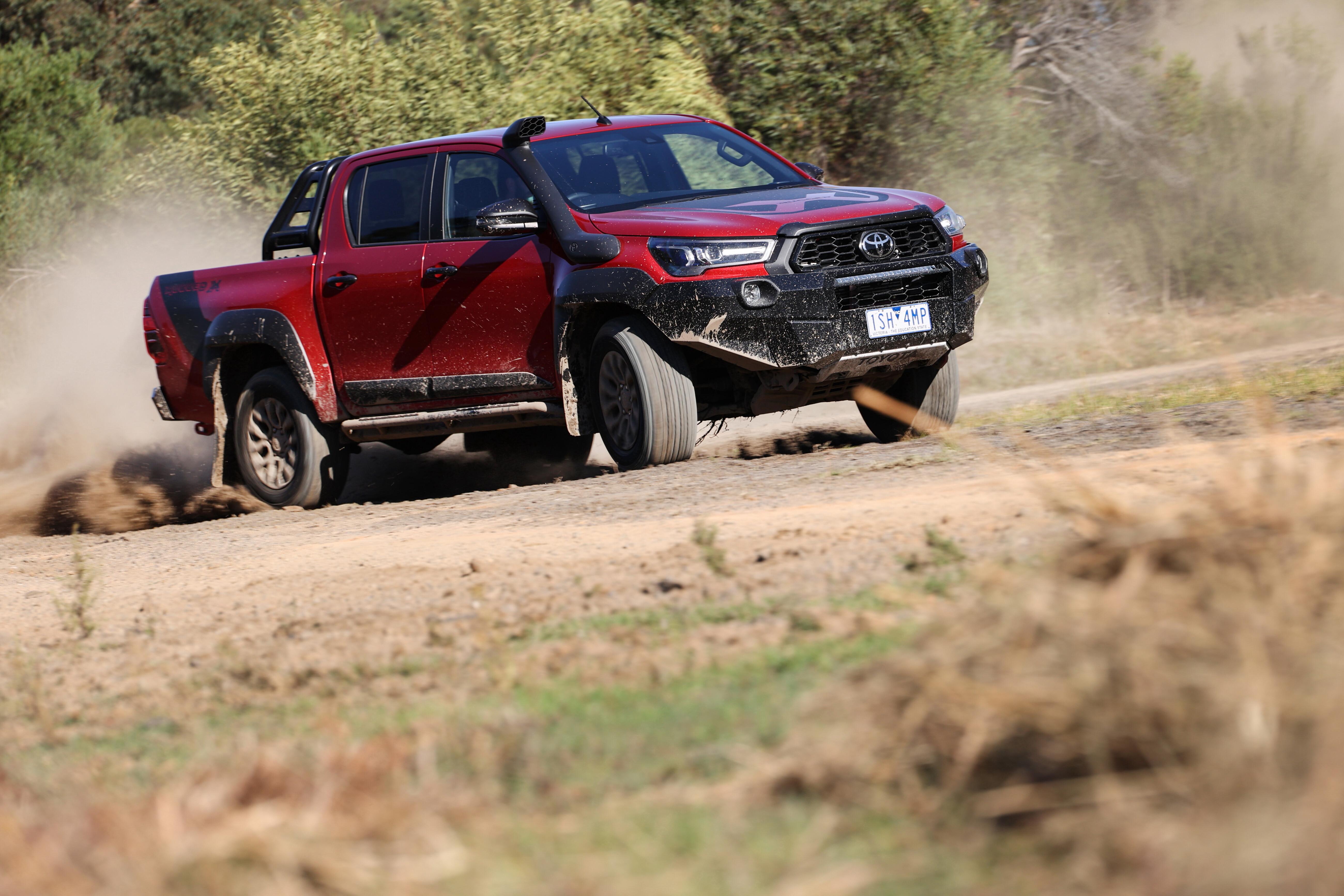 4 X 4 Australia Comparisons 2021 May 21 Toyota Hilux Rugged X Dirt Driving