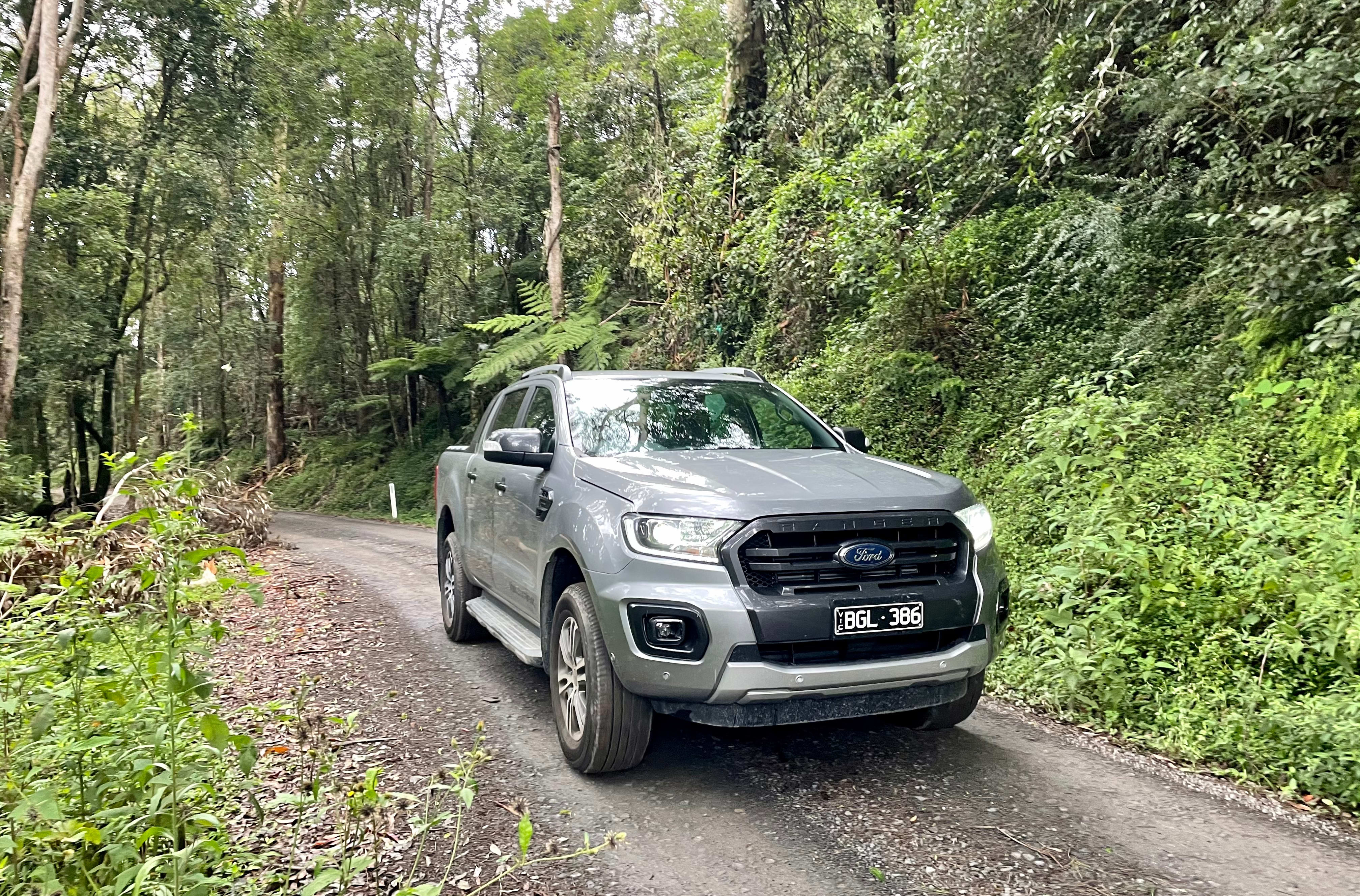 2021 Ford Ranger Wildtrak in the shed