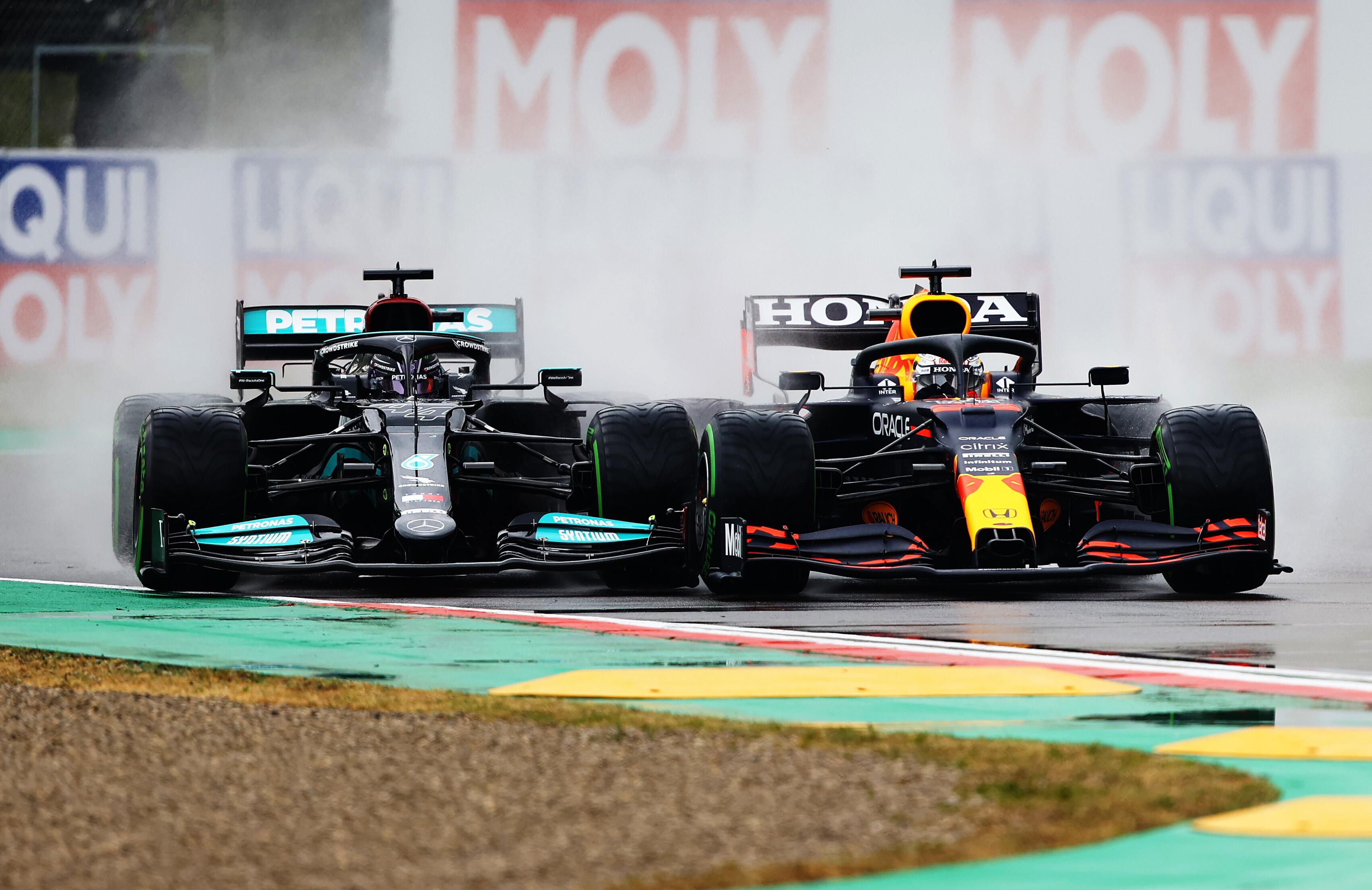 Formula 1 Imola 2021 Max Verstappen Lewis Hamilton
