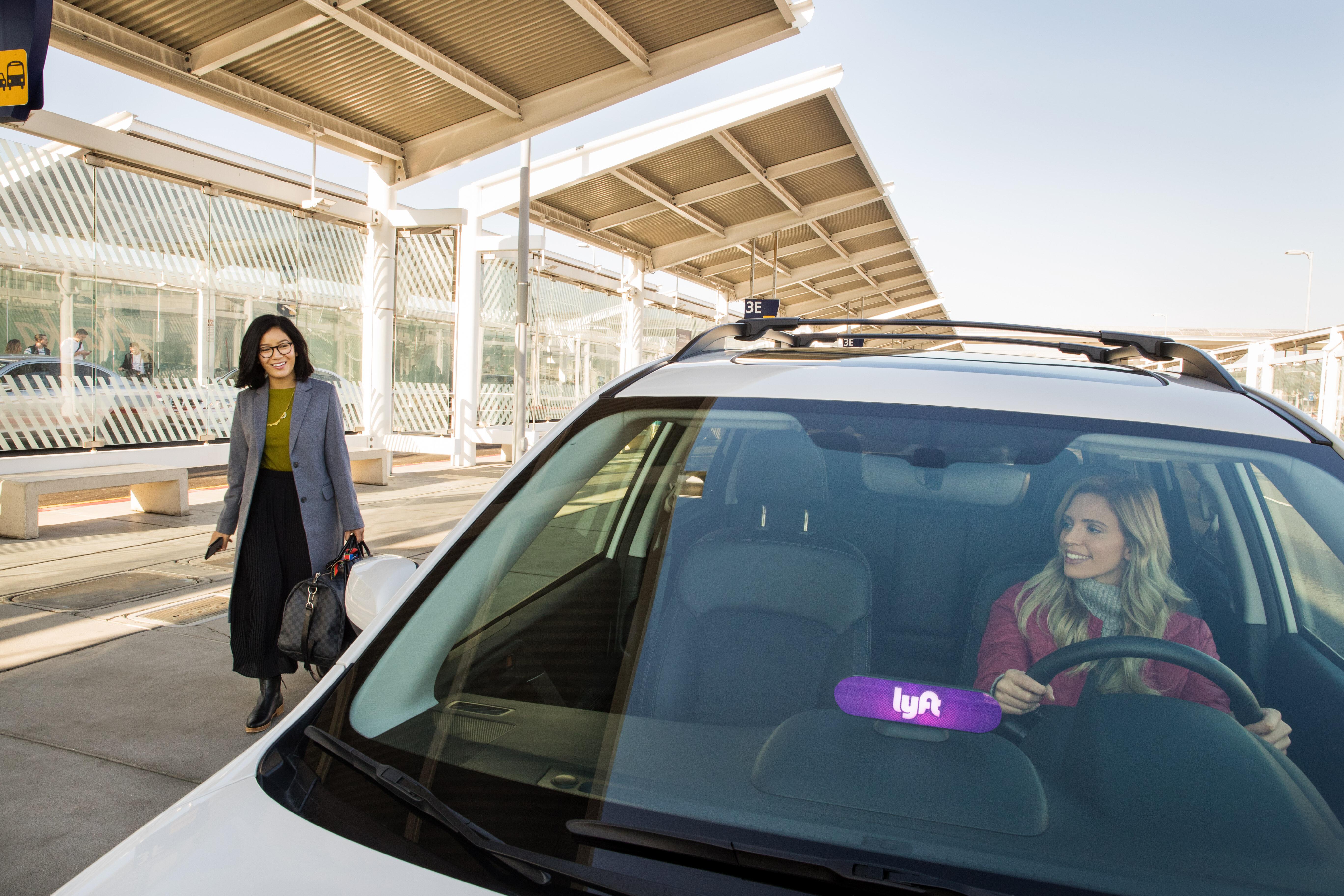 Lyft ride sharing