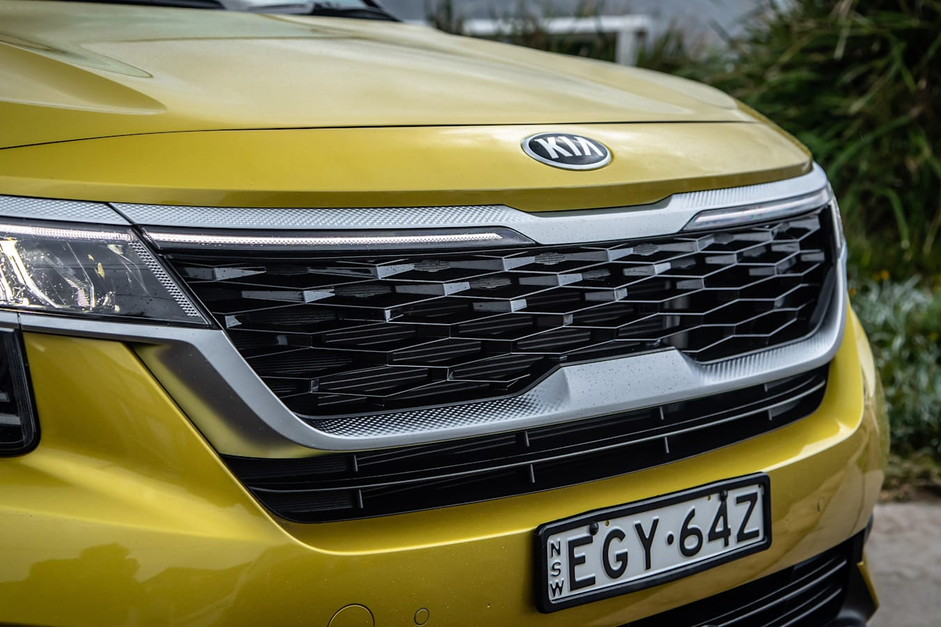 Which Car Car Reviews 2021 Kia Seltos GT Line Front Grille
