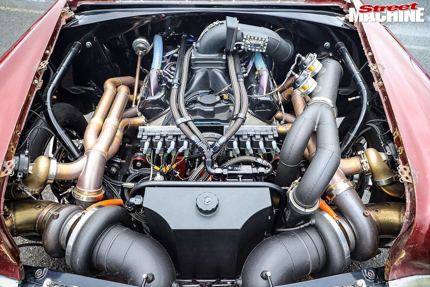 Street Machine Features 1956 Chevrolet Engine Bay