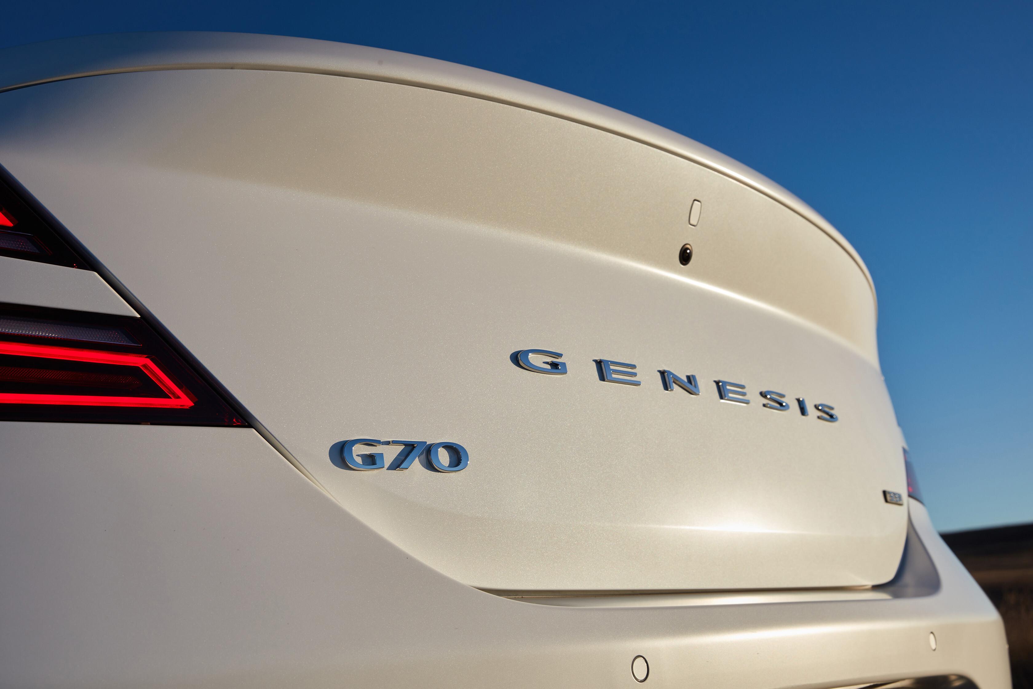 Wheels Reviews 2021 Genesis G 70 Rear Badge