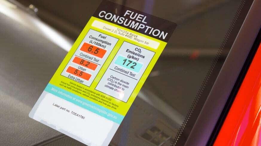 Fuel Consumption Sticker