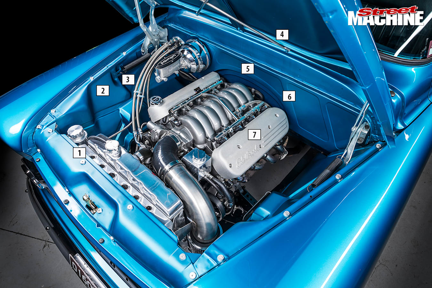 Street Machine Features Chevrolet Apache Engine Bay Detail