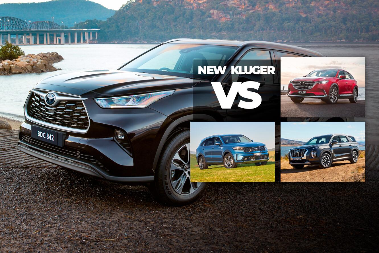 Toyota Kluger vs Kia Sorento vs Mazda CX-9 vs Hyundai Palisade spec comparison