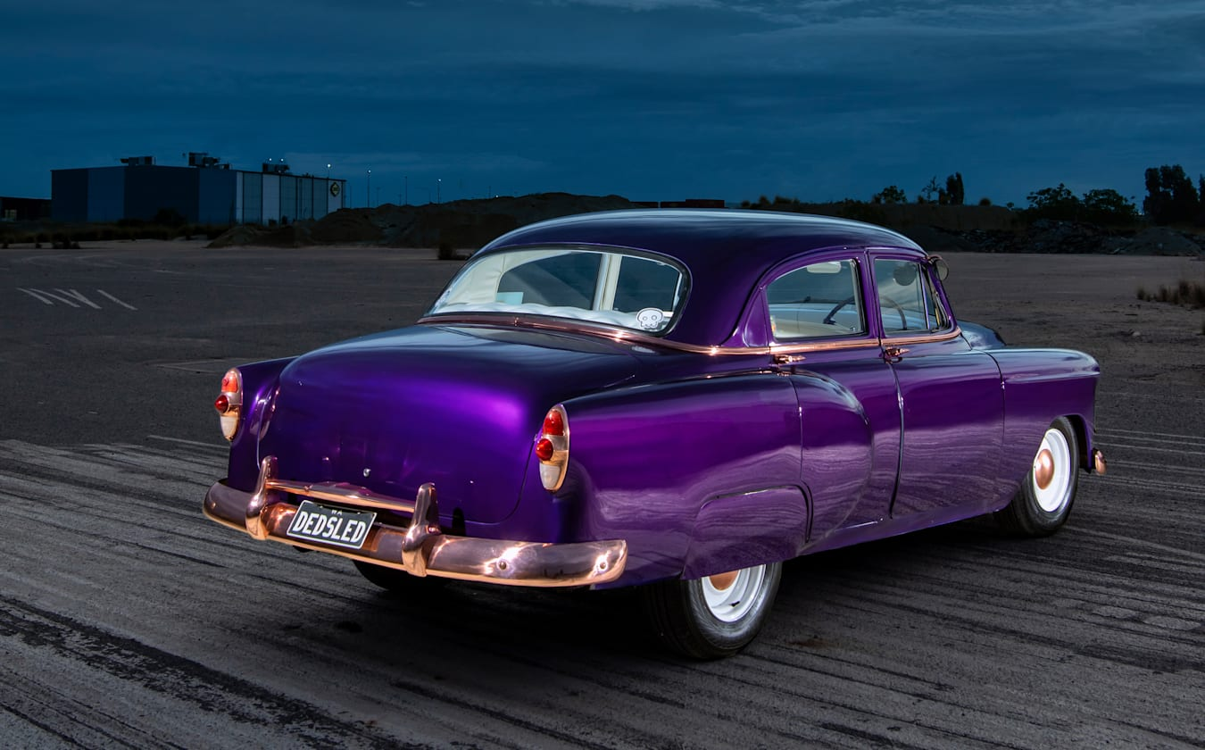 Street Machine Features Kate Russell Chevy Sled Rear