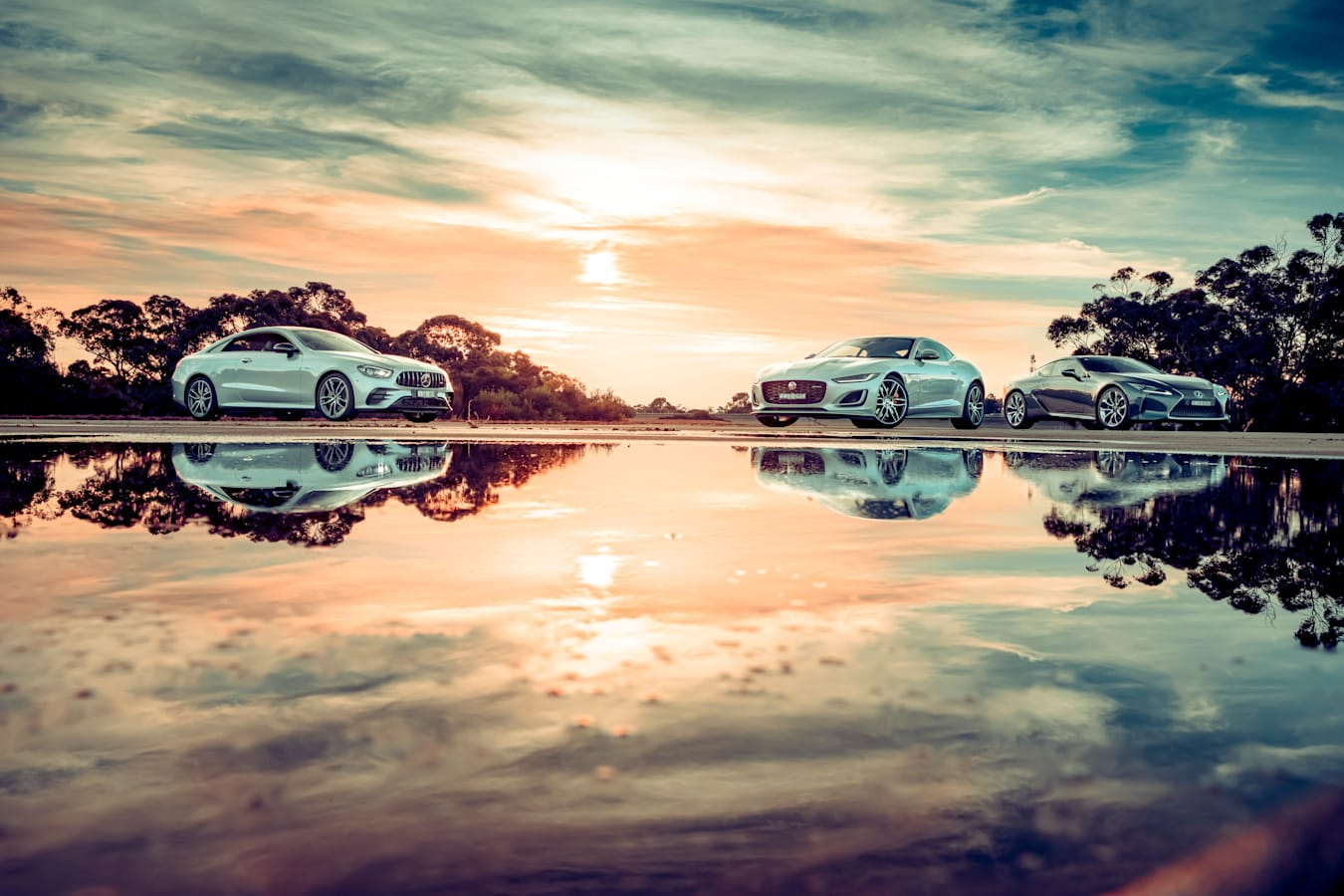Motor Reviews Jaguar F Type P 380 R Dynamic Lexus LC 500 Mercedes AMG E 53 Coupe Comparison 73