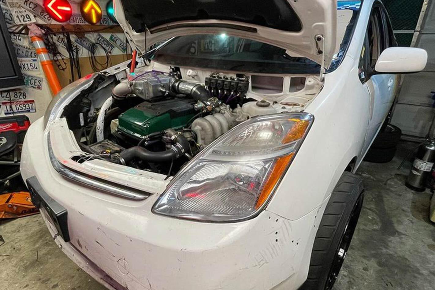 Barra turbo swapped Toyota Prius