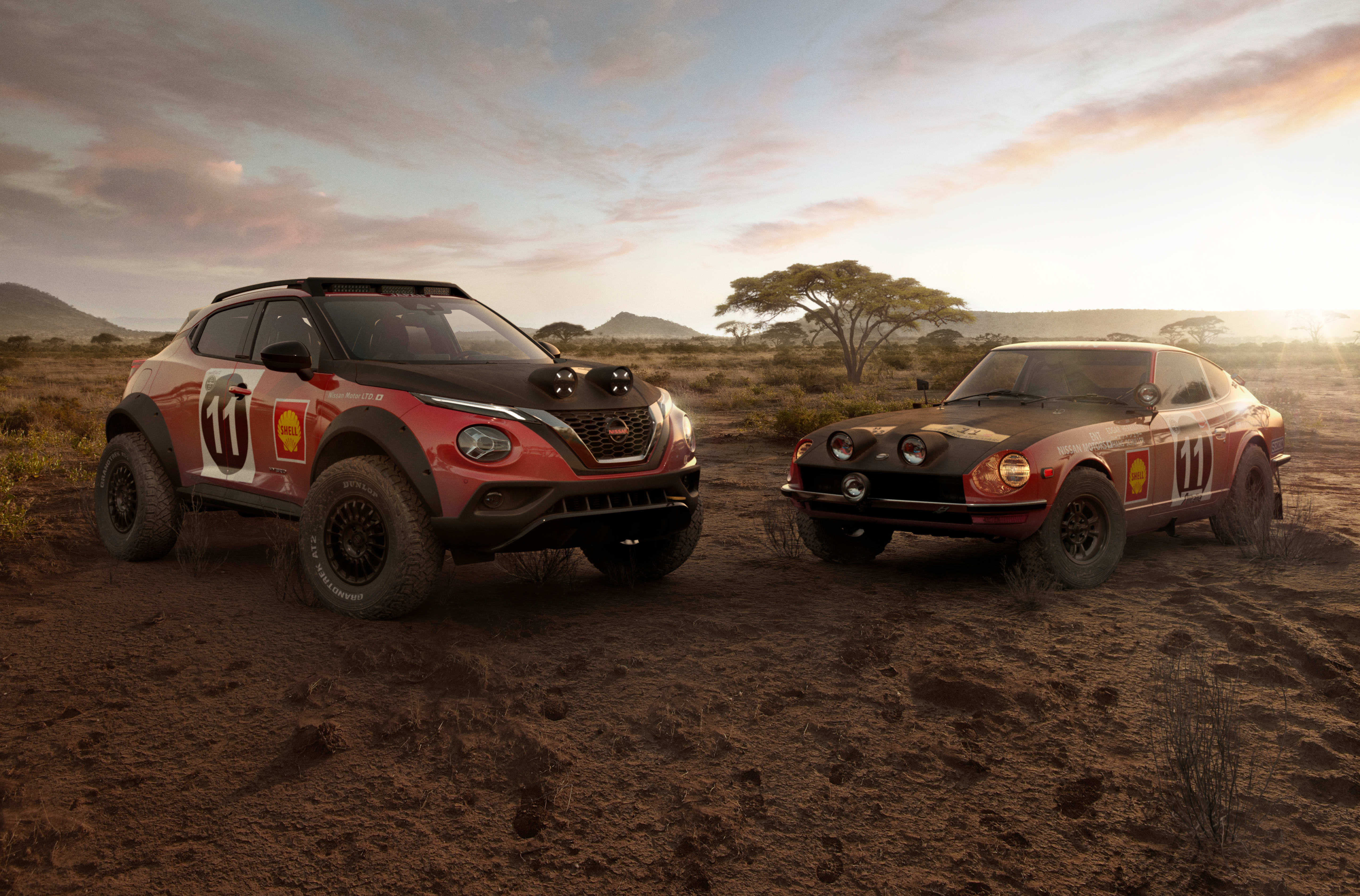 Nissan Juke rally concept celebrates 240Z's East African rally victory 50th anniversary