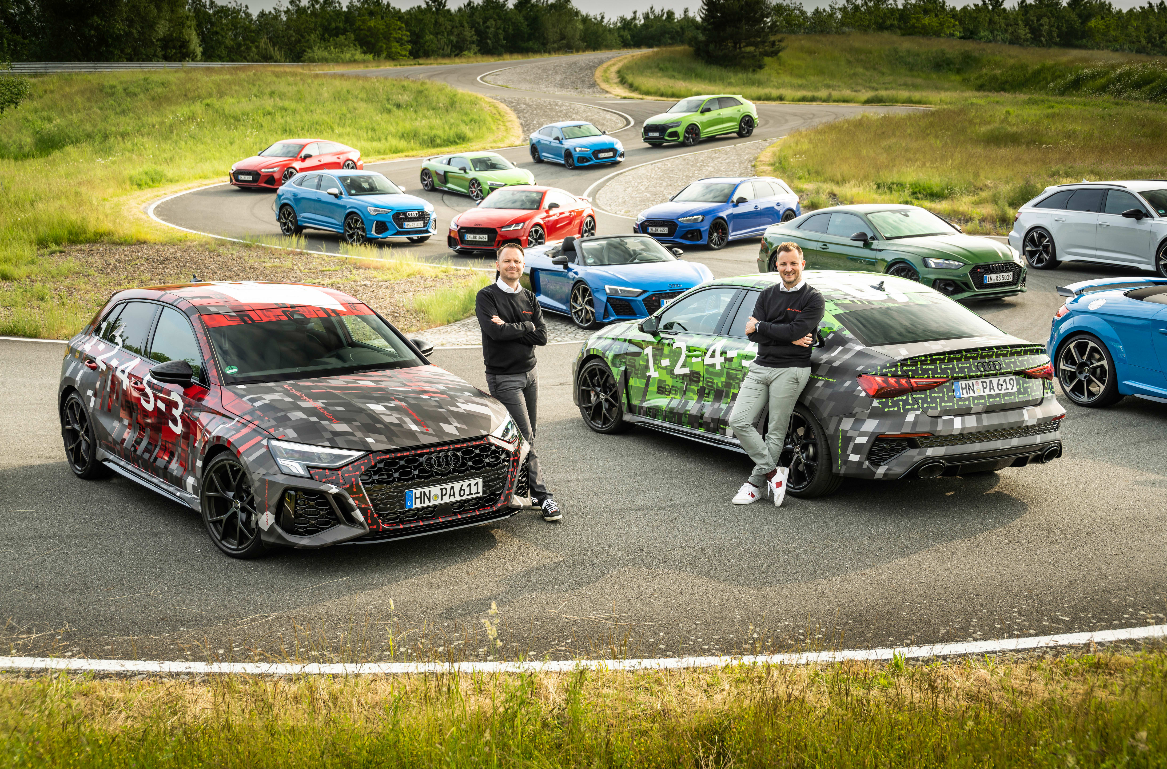 2022 Audi RS 3 appears in camo