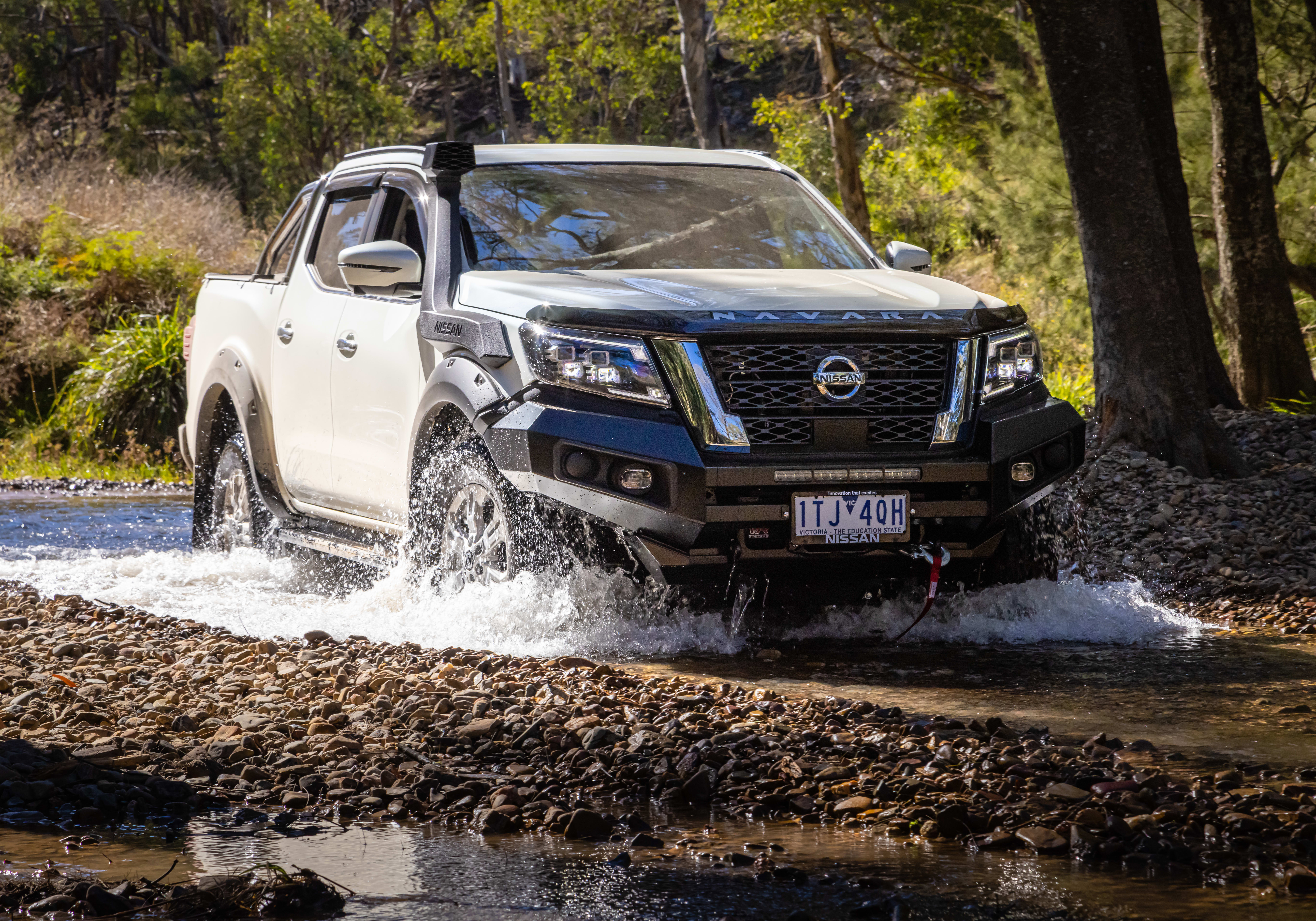 2021 Nissan Navara ST with factory accessories