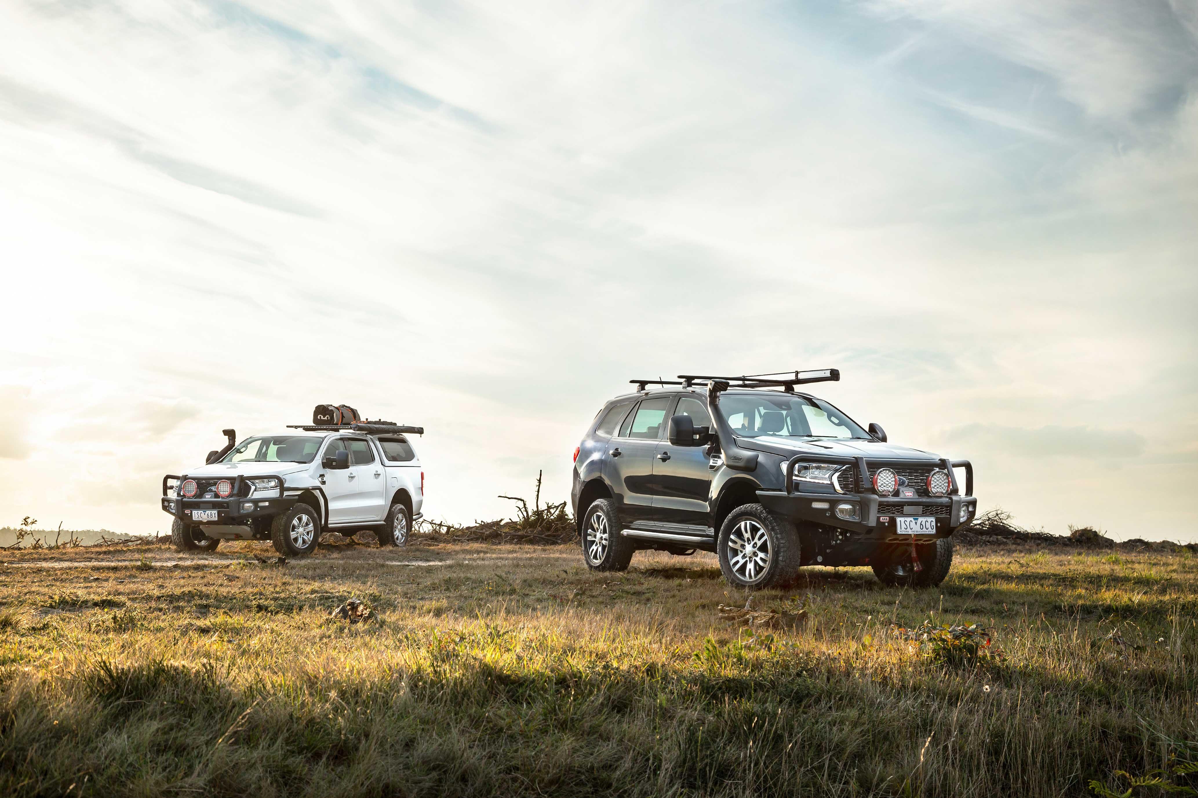 2021 Ford Ranger and Everest