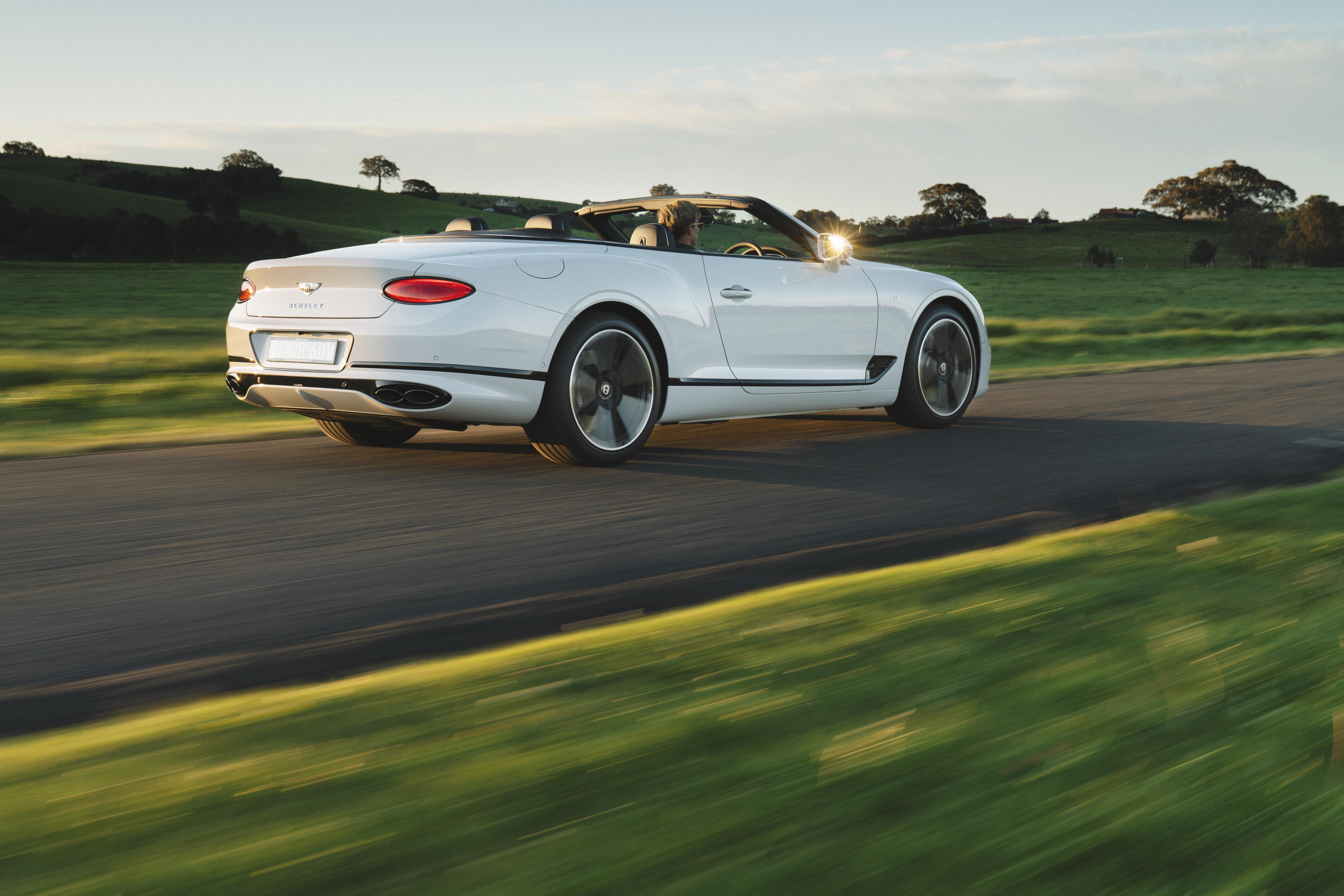 Motor Reviews Bentley Continental GTC V 8 Rear Action