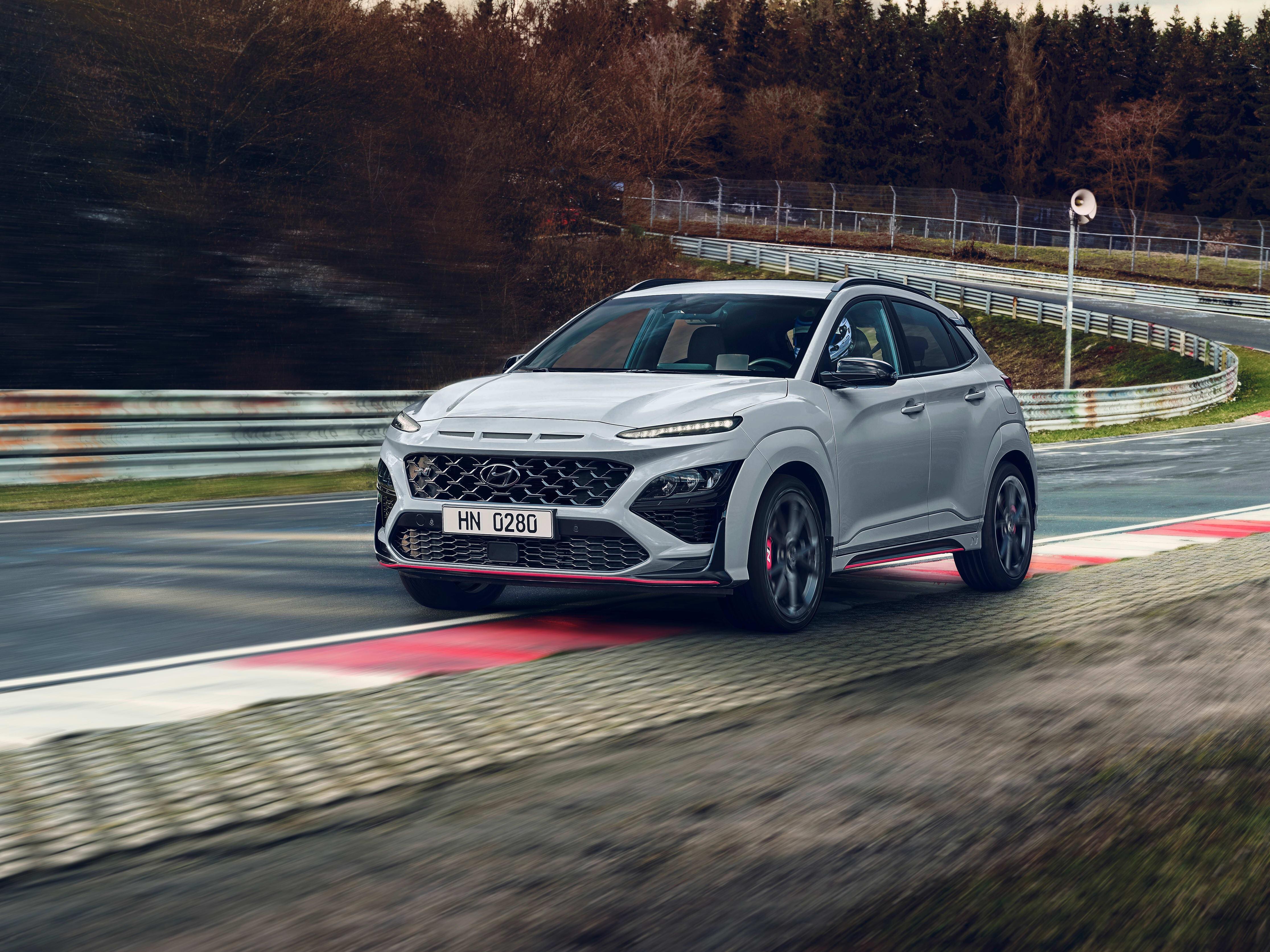 Hyundai Kona N on track
