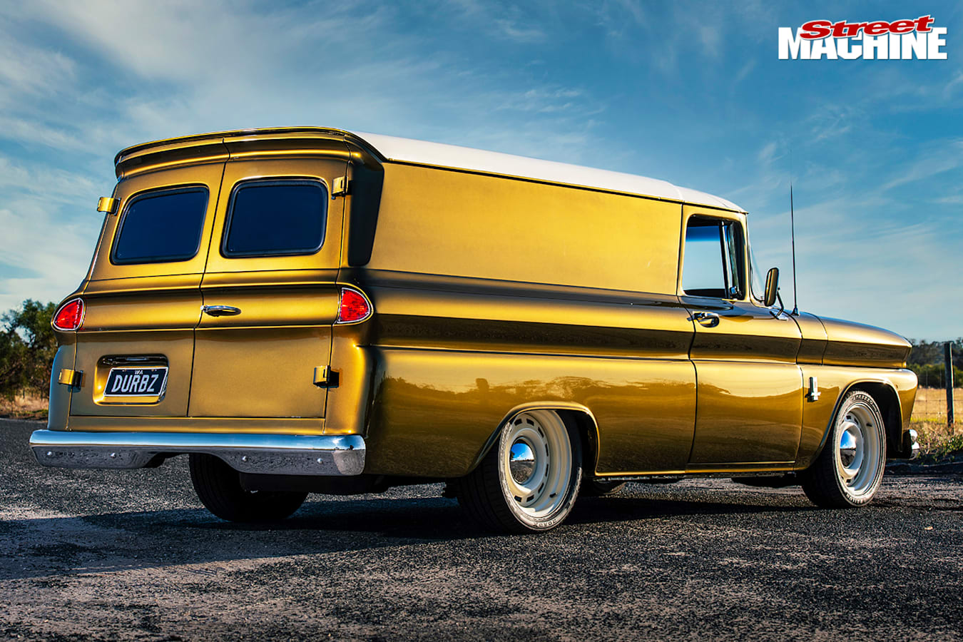 Street Machine Features Chevrolet C 10 Panel Truck Rear Angle