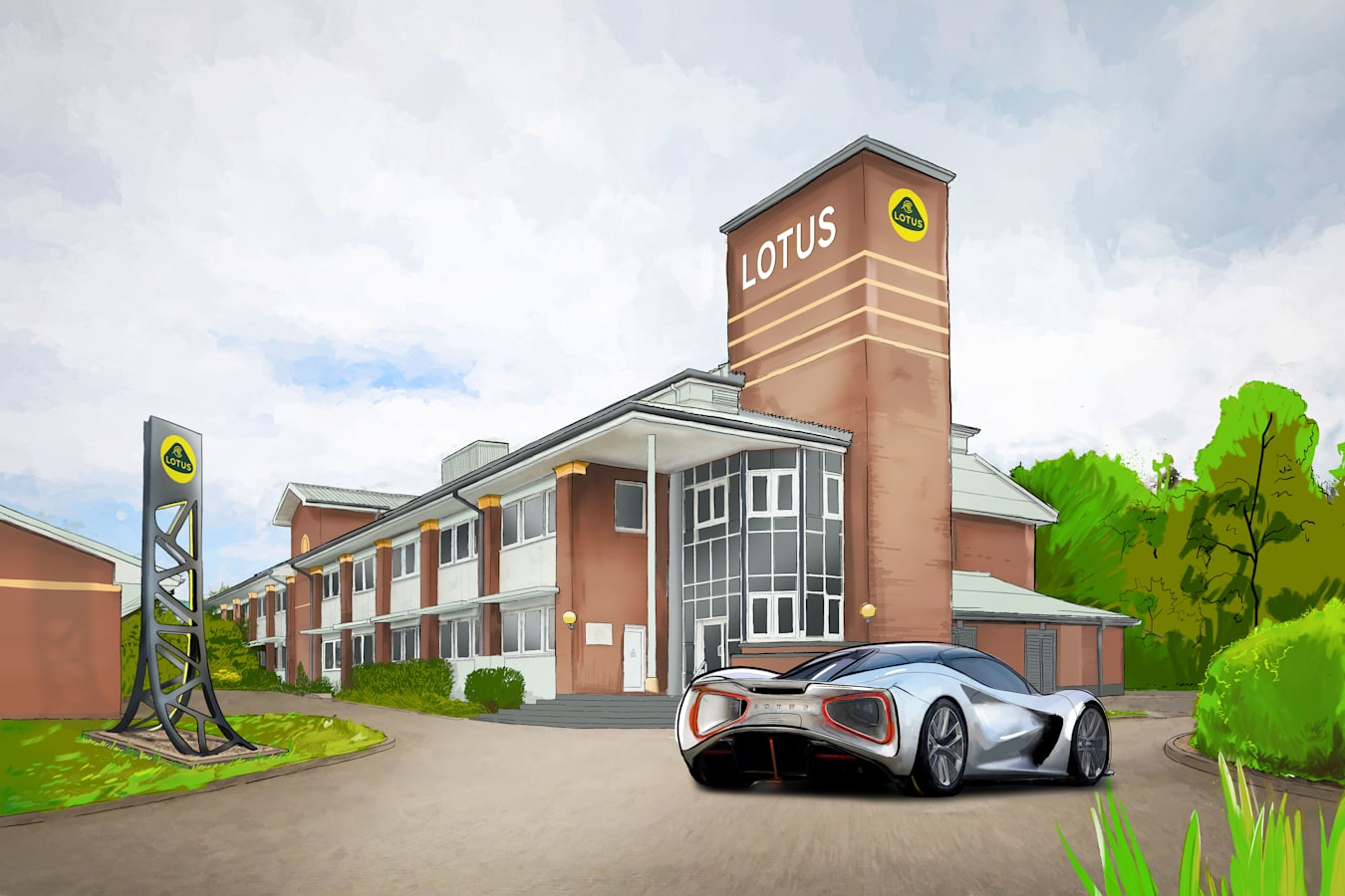 Motor Features Artist S Impression Of New Lotus Advanced Technology Centre 2