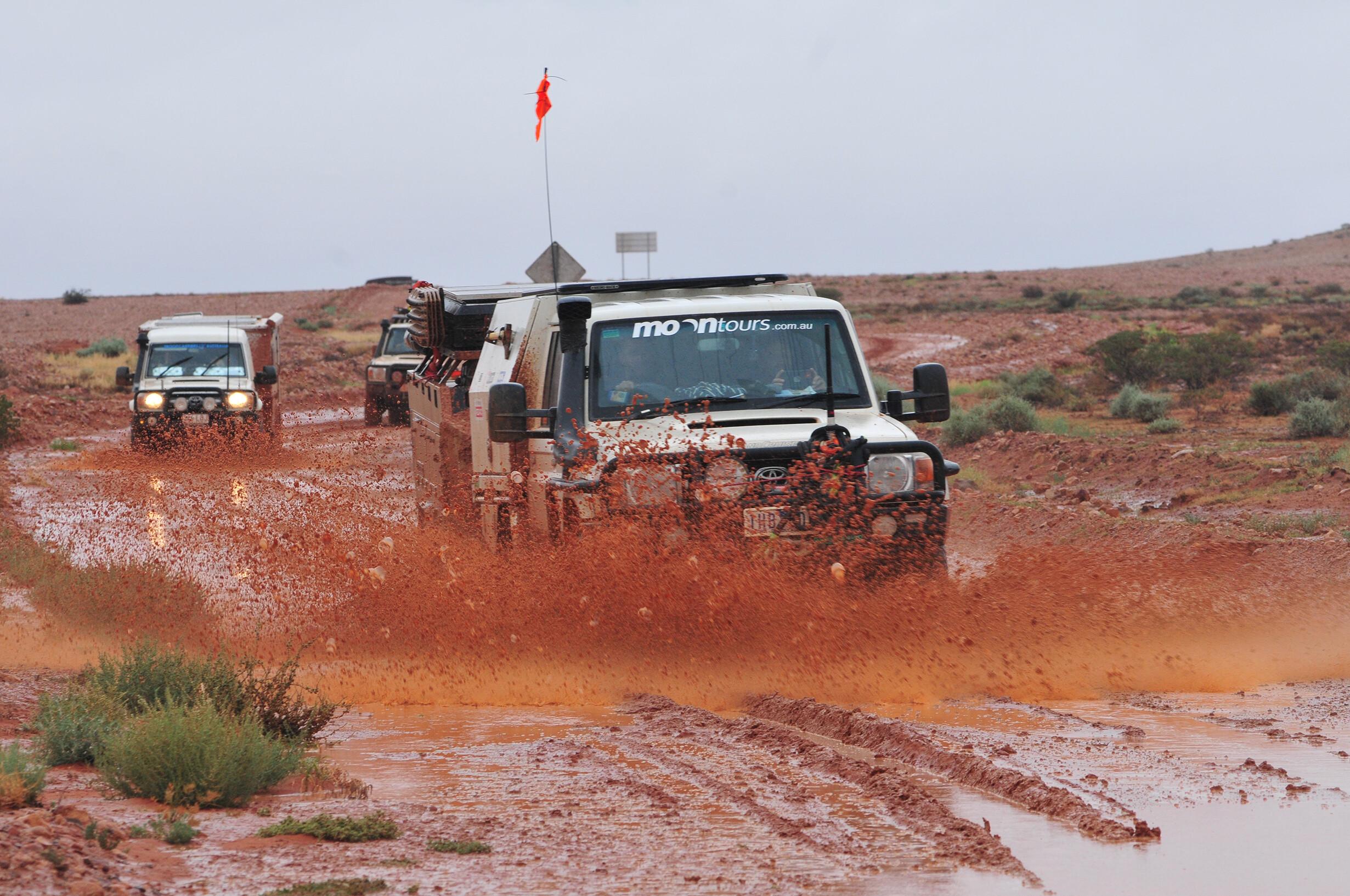 A wet track near Mt Dare