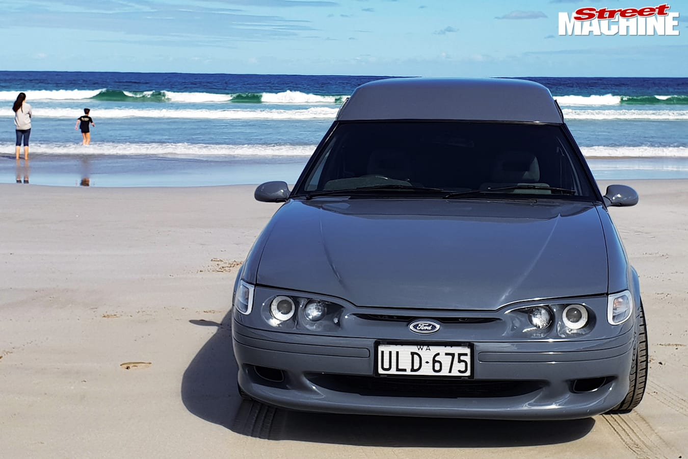 Street Machine Features Ford Xh Panel Van At The Beach