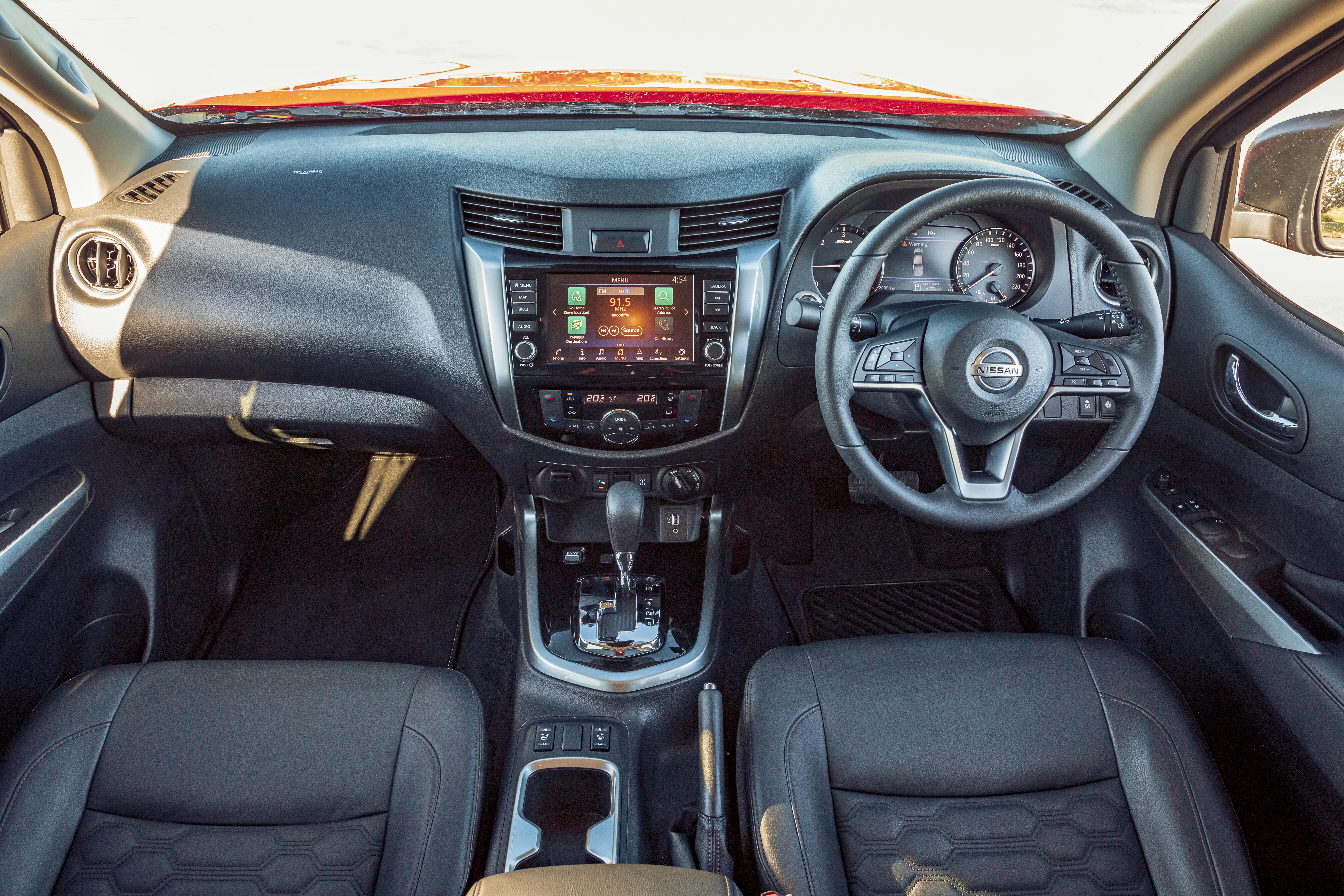4 X 4 Australia Comparisons 2021 May 21 Nissan Navara ST X Interior