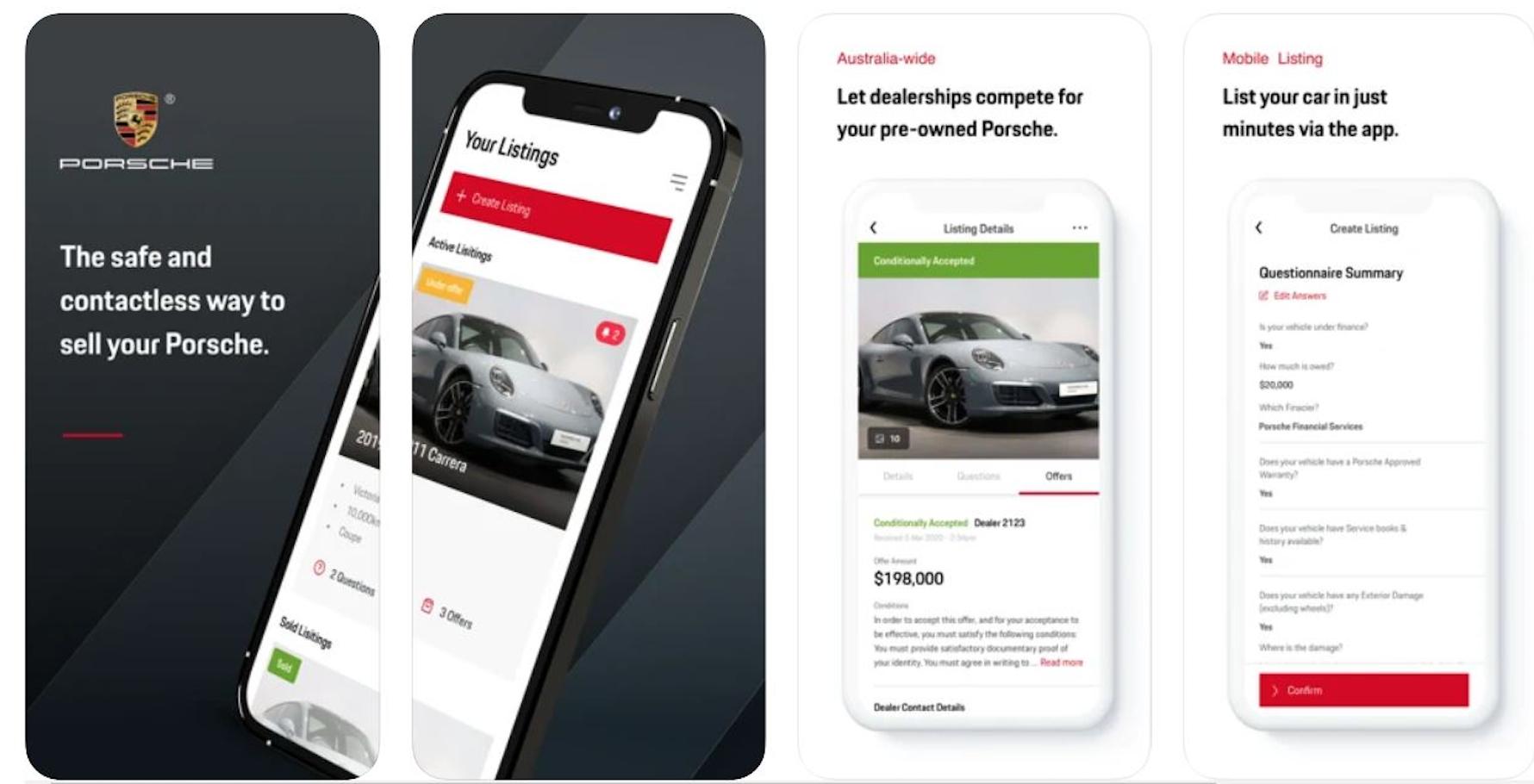 Porsche Sell Direct app