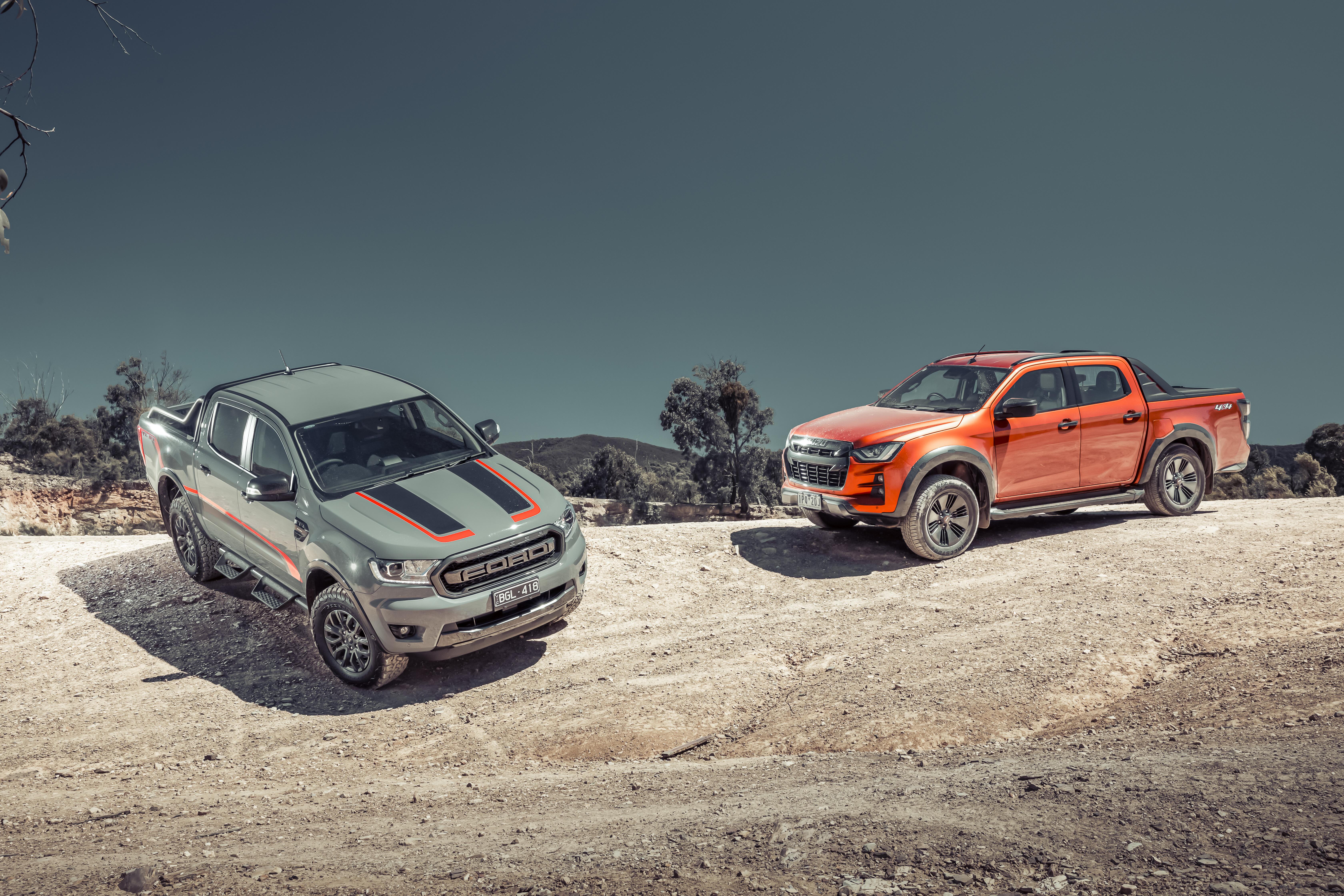 Ford Ranger FX4 MAX versus Isuzu D-MAX X-Terrain