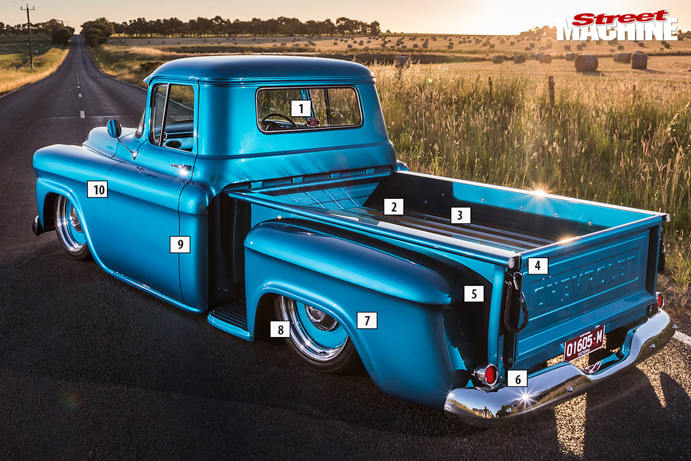 Street Machine Features Chevrolet Apache Rear Angle Detail