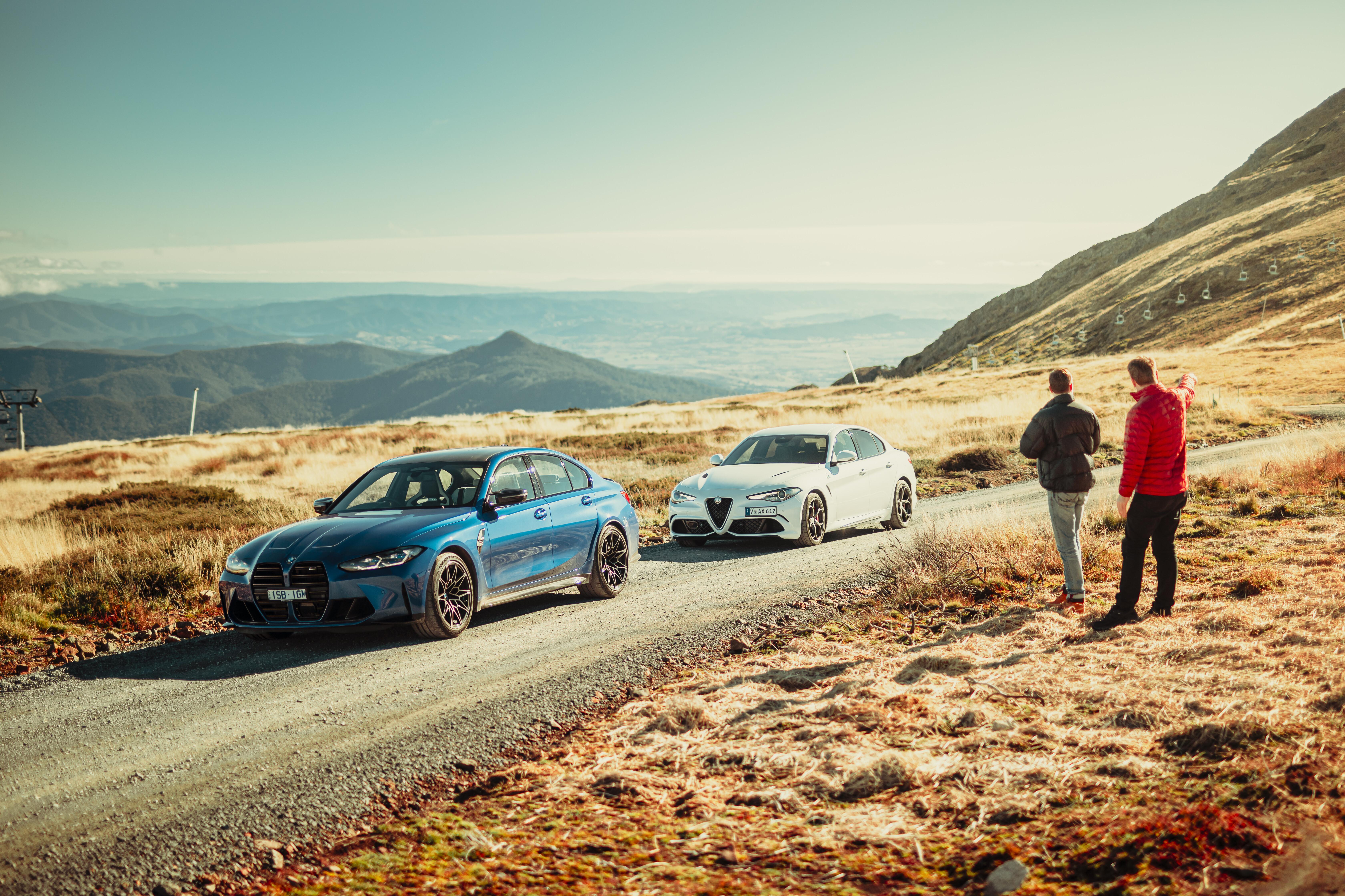2021 BMW M3 v Alfa Romeo Giulia Q comparison review