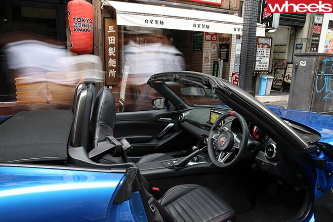 Fiat -124-Abarth -convertible -interior