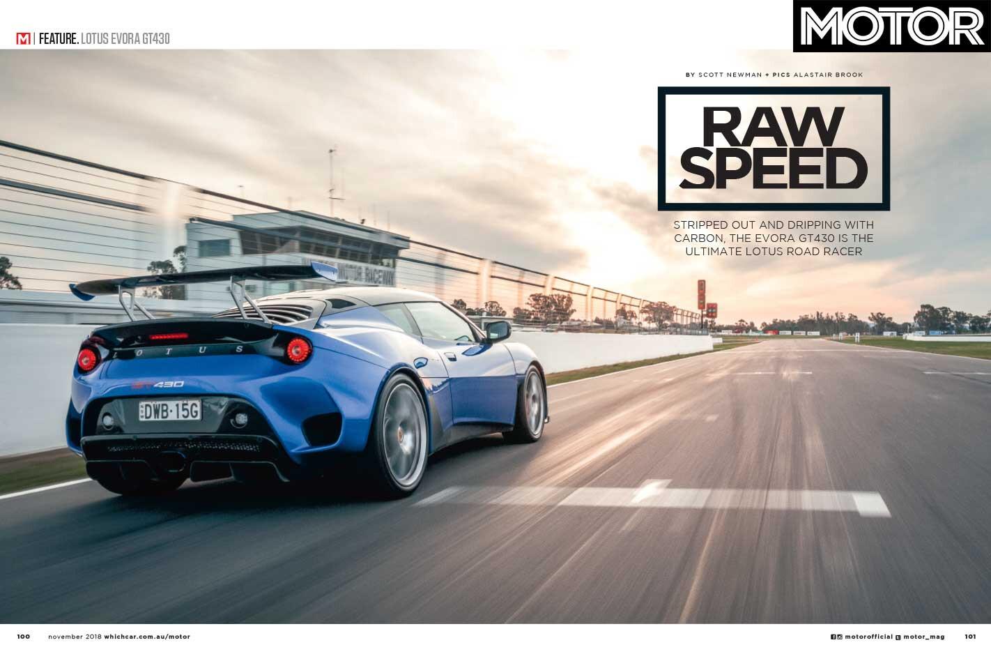 MOTOR Magazine November 2018 Lotus Evora Jpg