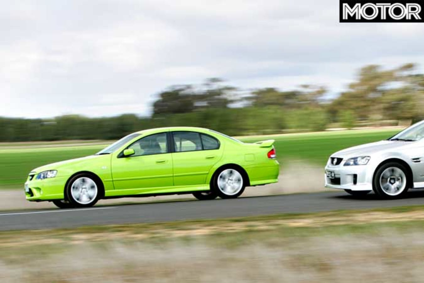 2006 Holden VE Commodore SS V Ford Falcon XR 6 T Comparison Test Jpg