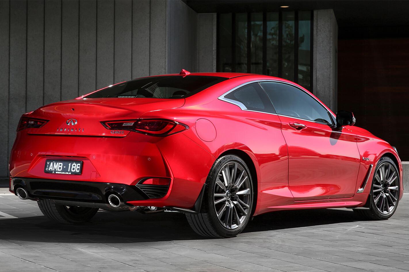 Infiniti Q60 Red Sport rear