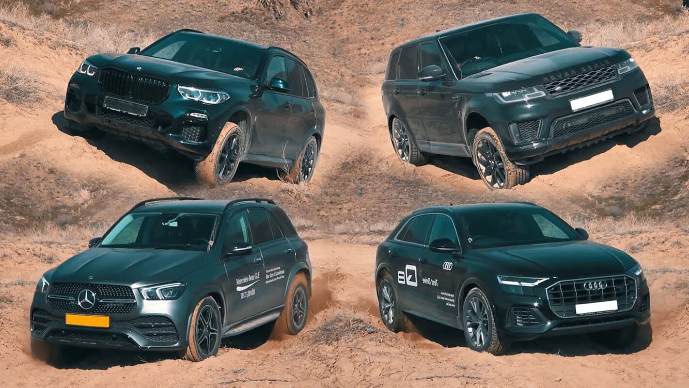 Luxury SUV off-road battle