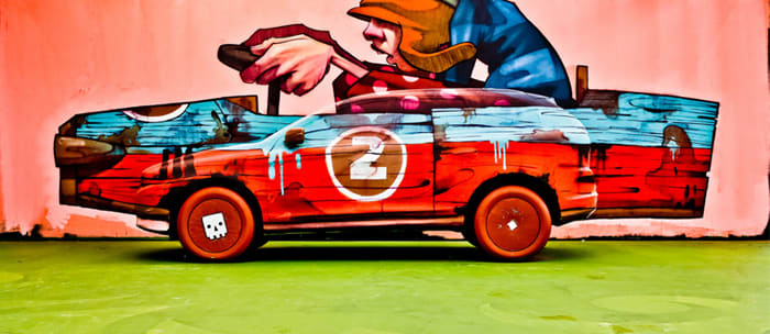 Volvo and art. Not two words you'd expect to find in the same sentence, but this month Switzerland's Zurich central train station became a temporary gallery for some very Volvo-related artistry.