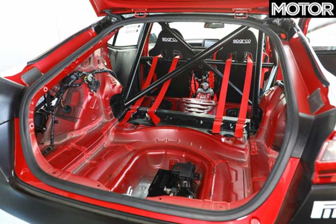 Kia Stinger GT420 track car stripped out interior