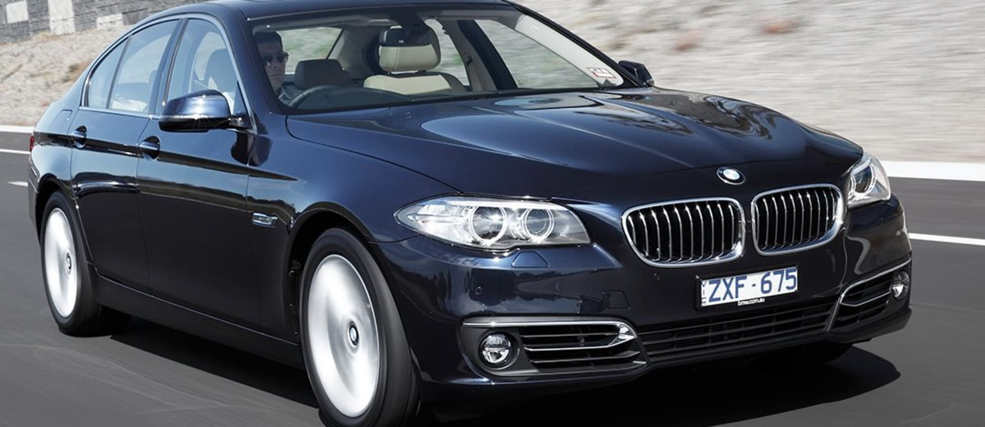 BMW 5 Series Front Driving Jpg