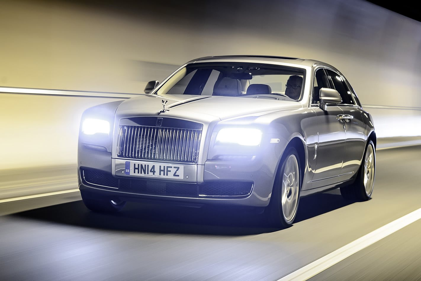 Rolls Royce Ghost driving front side