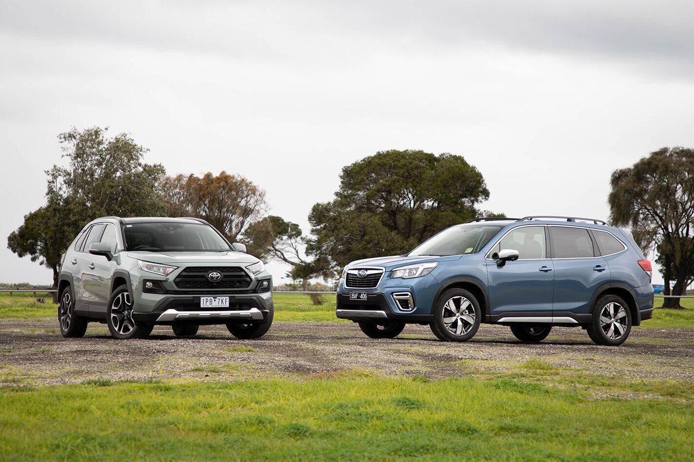 2019 Toyota Rav 4 Vs Subaru Forester Comparison 1 Jpg