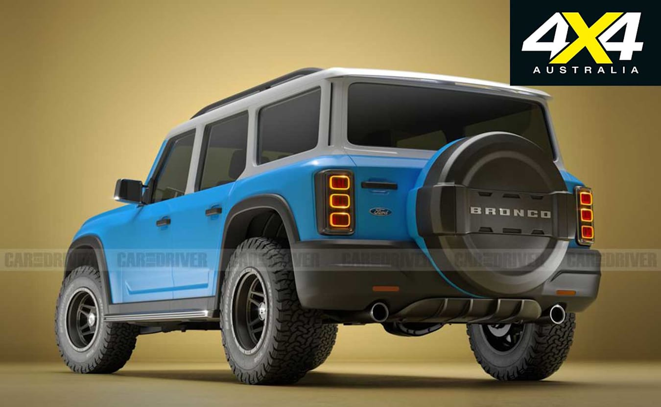 Ford Bronco rendering by Car and Driver magazine