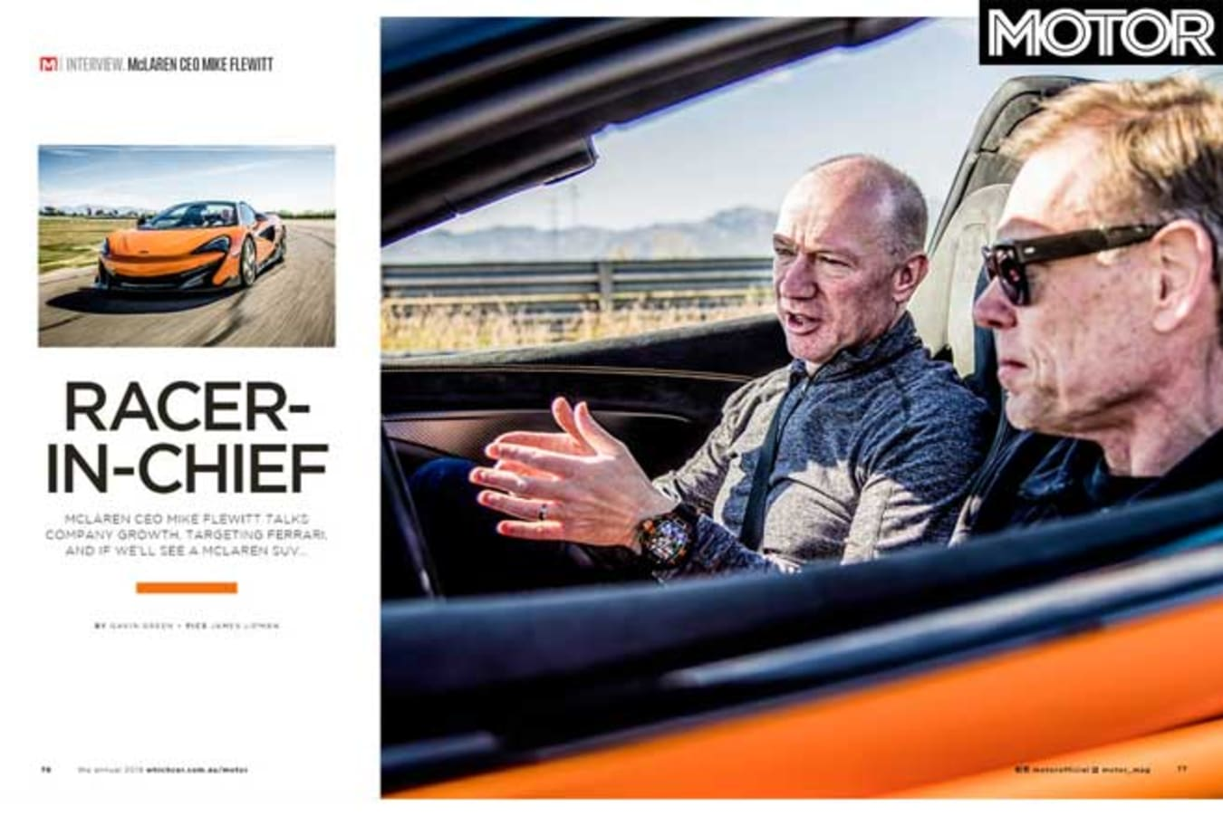 MOTOR Magazine Annual 2019 Issue An Interview With Mc Laren CEO Jpg