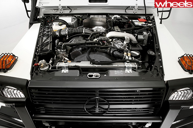 2017-Mercedes -G300-G-Professional -engine -bay