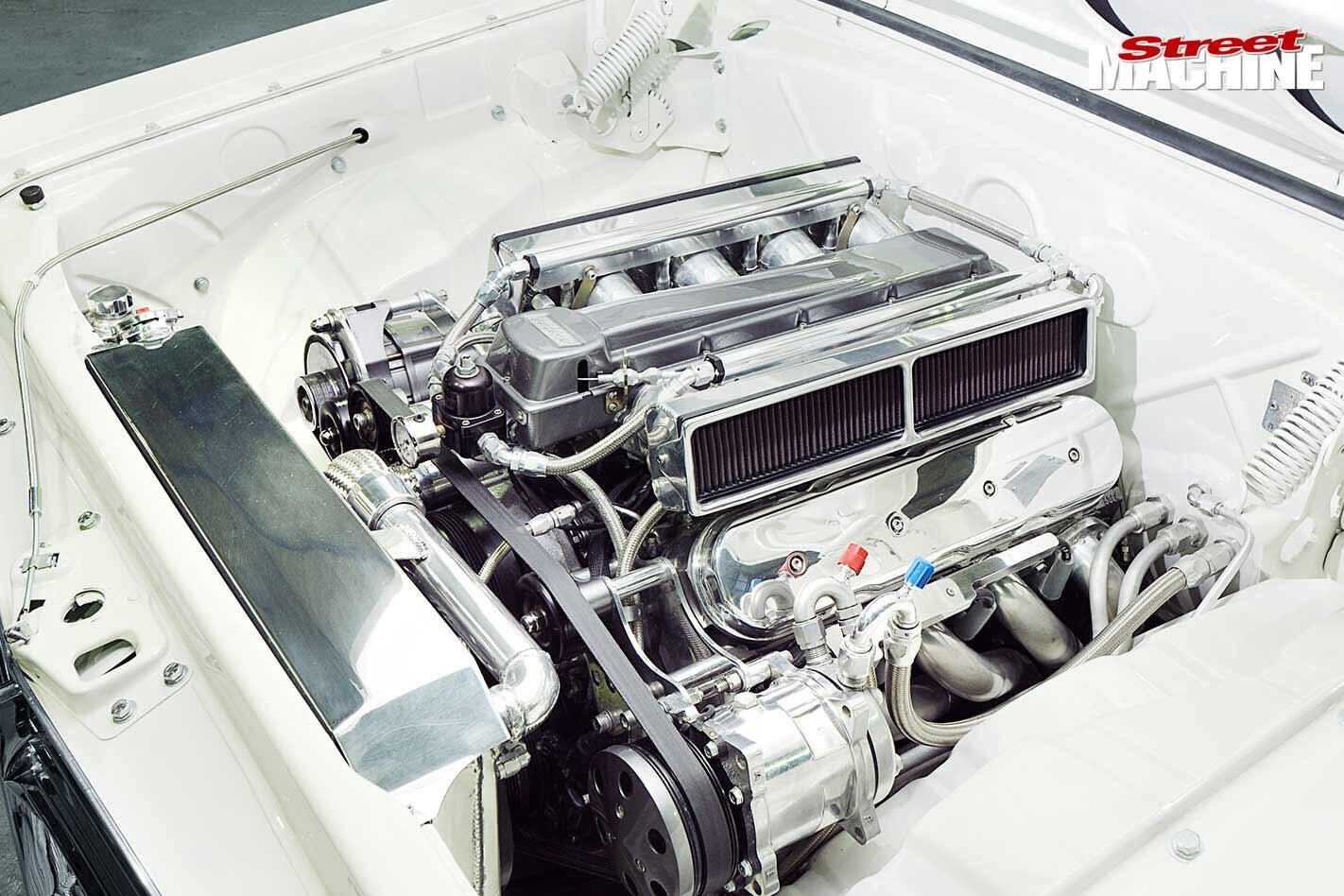 Holden HR engine bay