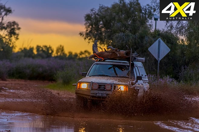 Hilux driving in mud