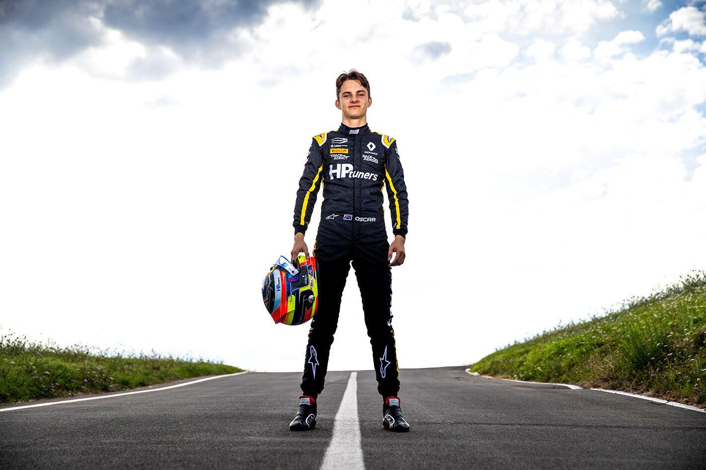 Oscar Piastri Renault F1 test