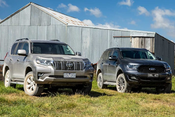 Toyota Prado GXL vs Ford Everest Sport