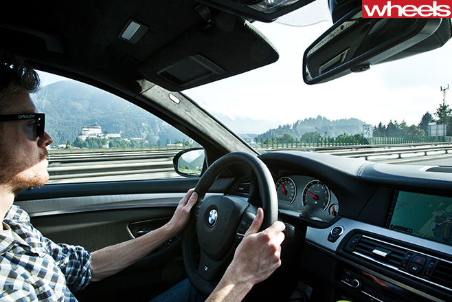 BMW-M5-driving -in -Germany -driving -interior