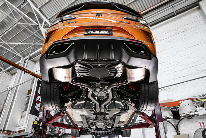 HSV GTSR W1 exhaust
