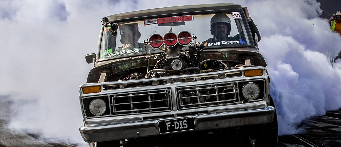 Ford F100 blown burnout F DIS 3 nw